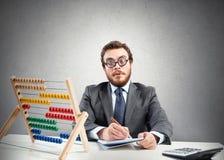 Homem de negócios financeiro do lerdo Fotos de Stock