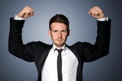 Homem de negócios forte Foto de Stock