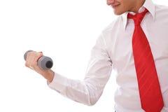Homem de negócios forte Imagens de Stock
