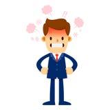 Homem de negócios irritado With Red Face e vapor quente Fotos de Stock Royalty Free