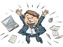 Homem de negócios Joy Jump Imagem de Stock Royalty Free
