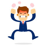Homem de negócios Jump na raiva Imagens de Stock