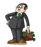 Homem de negócios Money Bag Foto de Stock Royalty Free