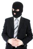 Homem de negócios na máscara Fotografia de Stock Royalty Free