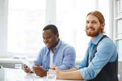 Homem de negócios na reunião Imagens de Stock
