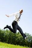 Homem de negócios no parque. Imagens de Stock Royalty Free
