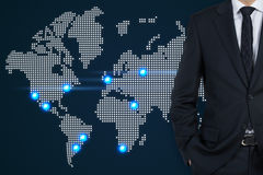 Homem de negócios no terno Fotos de Stock