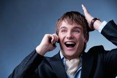 Homem de negócios novo considerável Imagens de Stock Royalty Free