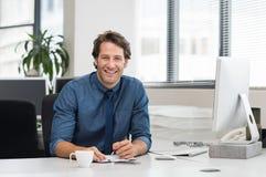 Homem de negócios novo de sorriso Fotos de Stock