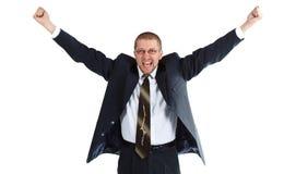 Homem de negócios novo feliz Fotografia de Stock