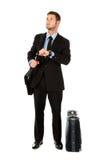 Homem de negócios novo impaciente Fotografia de Stock Royalty Free