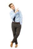 Homem de negócios novo que aponta acima Imagem de Stock Royalty Free