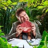 Homem de negócios predador Fotografia de Stock