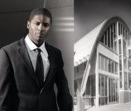 Homem de negócios preto novo Foto de Stock Royalty Free