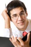Homem de negócios, professor ou estudante Foto de Stock Royalty Free