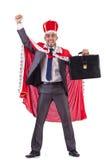 Homem de negócios que joga o rei isolado Fotografia de Stock Royalty Free