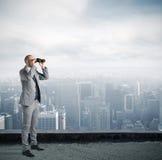 Homem de negócios que olha ao futuro Imagens de Stock