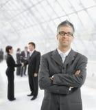 Homem de negócios satisfeito Fotografia de Stock