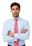 Homem de negócios seguro Standing Arms Crossed Imagem de Stock Royalty Free