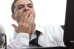 Homem de negócios sonolento Fotografia de Stock
