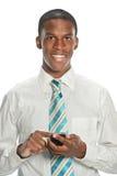 Homem de negócios Using Cell Phone Imagens de Stock Royalty Free