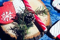 Homem de pão-de-espécie de Santa Claus Foto de Stock Royalty Free
