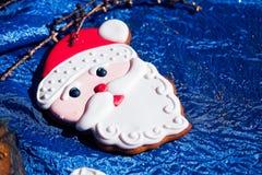 Homem de pão-de-espécie de Santa Claus Imagens de Stock