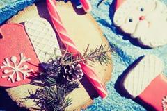 Homem de pão-de-espécie de Santa Claus Imagem de Stock