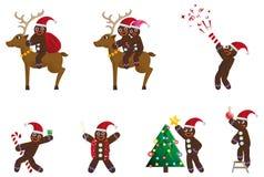 Homem de pão-de-espécie do Natal Imagem de Stock