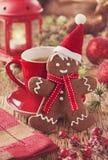 Homem de pão-de-espécie do Natal Foto de Stock