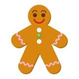 Homem de pão-de-espécie do Natal ilustração royalty free