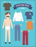 Homem de papel /illustration da boneca Foto de Stock