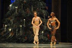 Homem de Paquistão e a menina de dança Fotos de Stock Royalty Free