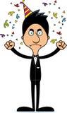 Homem de partido irritado dos desenhos animados Fotografia de Stock Royalty Free