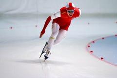 homem de patinagem de uma velocidade de 500 m Foto de Stock Royalty Free