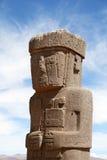 Homem de pedra em Tiwanaku, Bolívia Imagem de Stock
