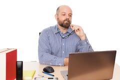 Homem de pensamento Fotos de Stock