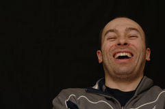 Homem de riso Fotografia de Stock