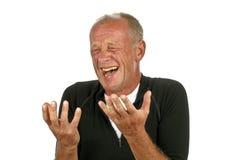 Homem de riso fotos de stock royalty free