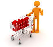 Homem de Shoping ilustração royalty free