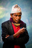 Homem de Sindhupalchowk, Nepal Fotografia de Stock Royalty Free