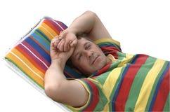 Homem de sono Imagens de Stock Royalty Free