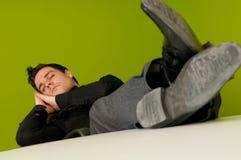 Homem de sono Foto de Stock