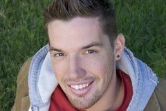 Homem de sorriso Fotos de Stock Royalty Free