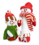 Homem de sorriso da neve dois imagem de stock royalty free