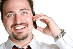 Homem de sorriso do telefone foto de stock royalty free