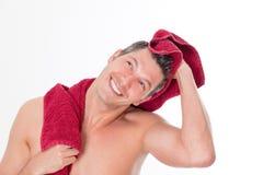 Homem de toalha Fotografia de Stock