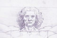 Homem de Vitruvian - Leonardo Da Vinci imagem de stock