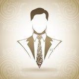 Homem decorativo do vintage no terno e no laço Foto de Stock