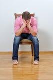 Homem deprimido Foto de Stock